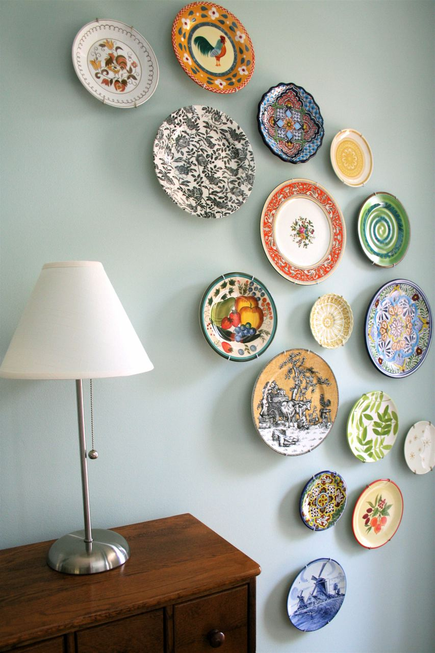 mmmcrafts corners of my house foyer plate wall