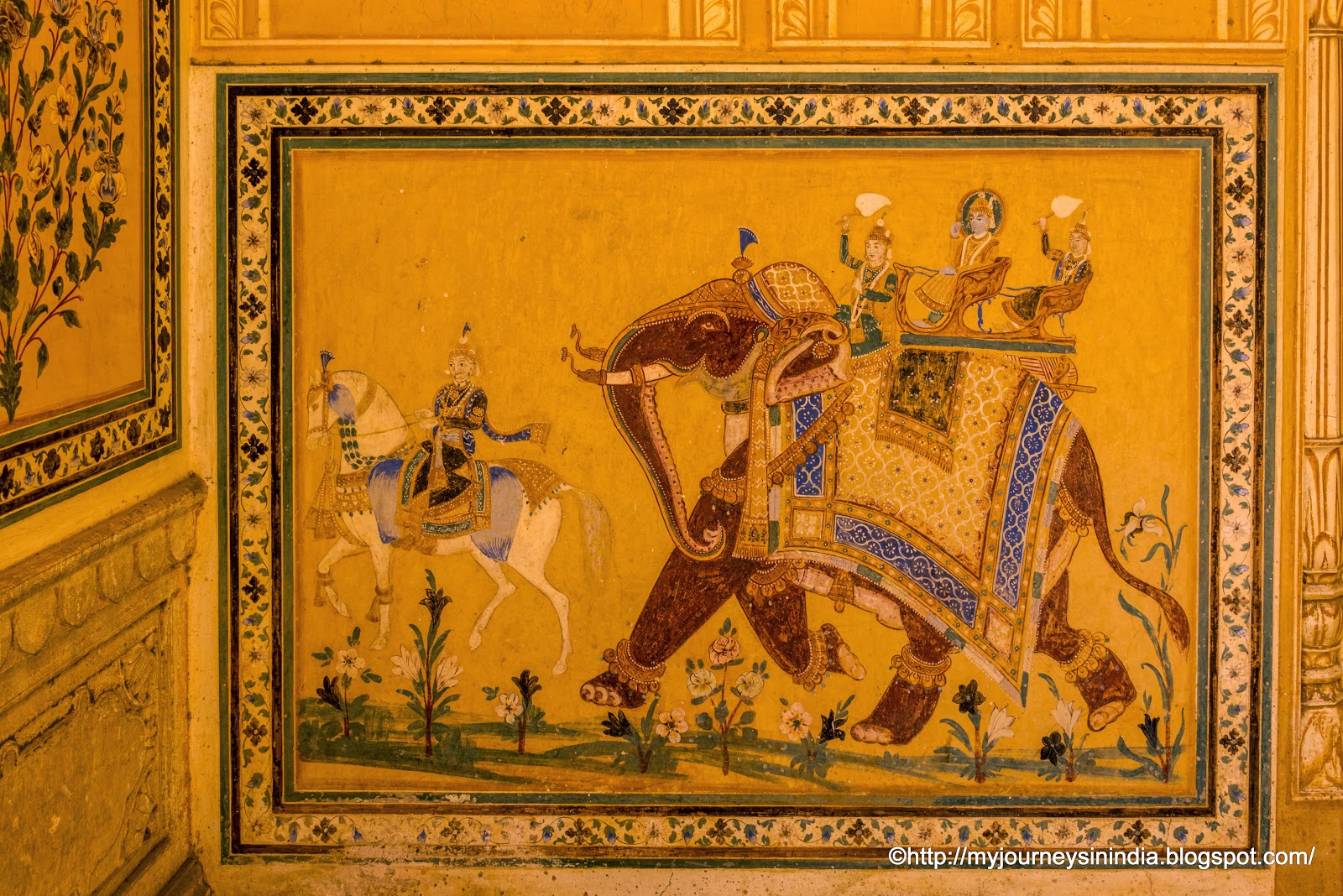 Murals at Madhavendra Palace Jaipur