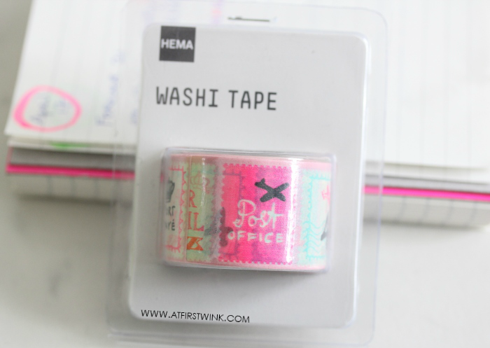 HEMA washi tape with stamp design