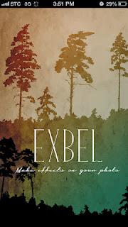 برنامج exbel لتعديل و دمج الصور للايفون