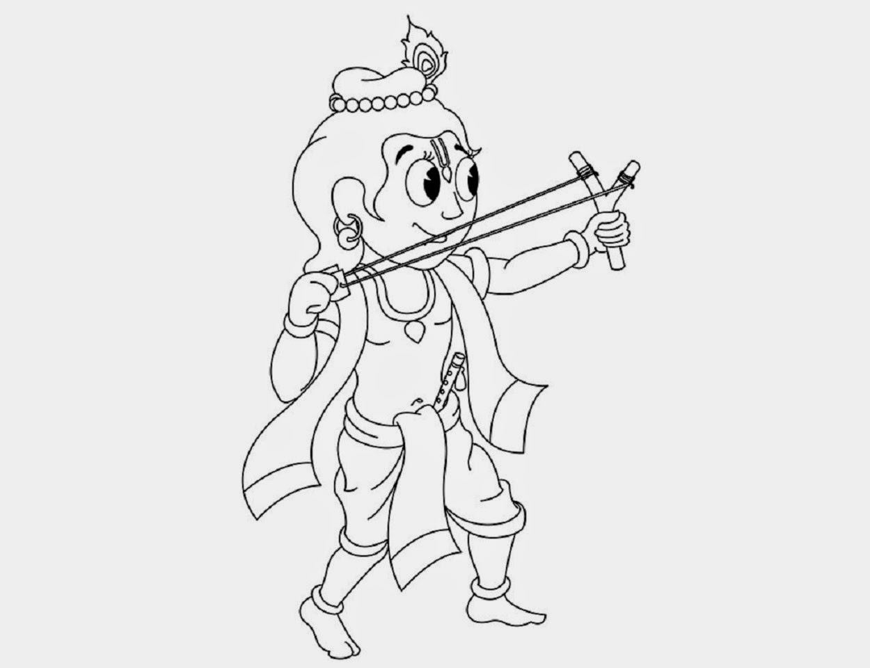 colour drawing free wallpaper: little krishna for kid coloring ... - Baby Krishna Images Coloring Pages