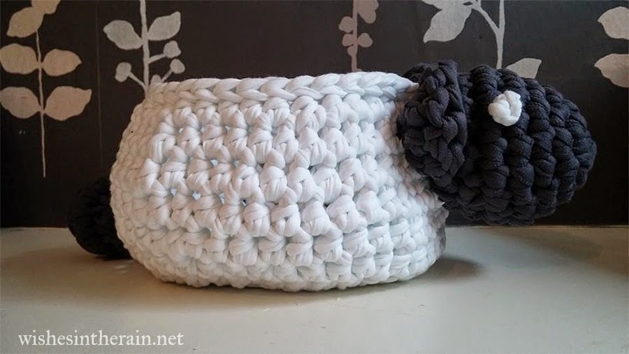 sheep crochet bowl