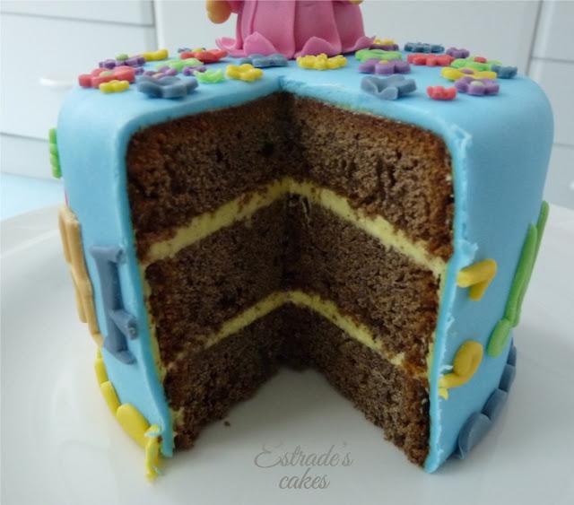 tarta niña - corte