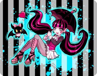 Monster High, Imagenes de Draculaura para Imprimir, parte 4