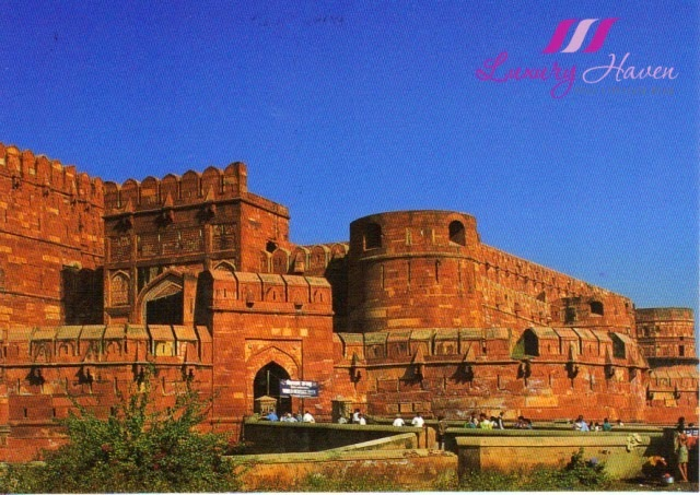 postcard india agra fort travel review