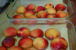 baked peaches for babyfood