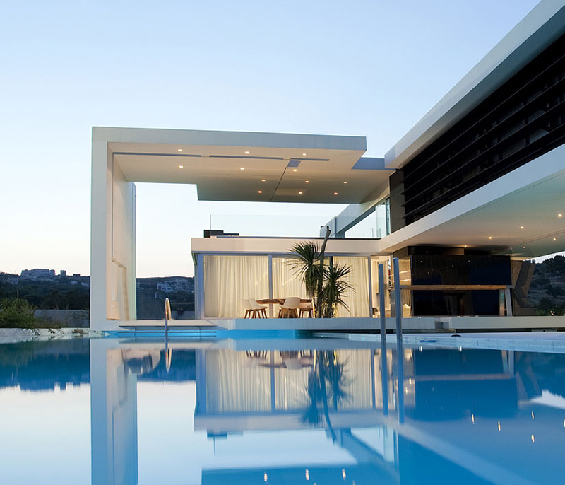 Huge modern athens home with a squash court gym and three Huge modern homes