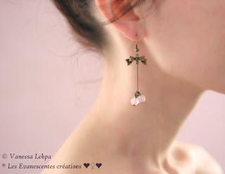 boucles d 'oreille romantique poétique vanessa lekpa jade rose