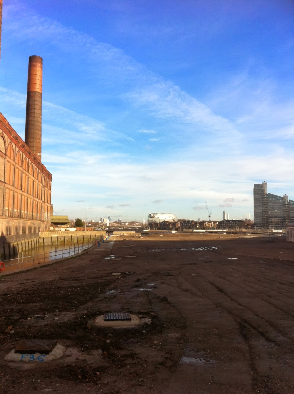 Wasteland near Lots Road Power Station, Imperial Wharf, London
