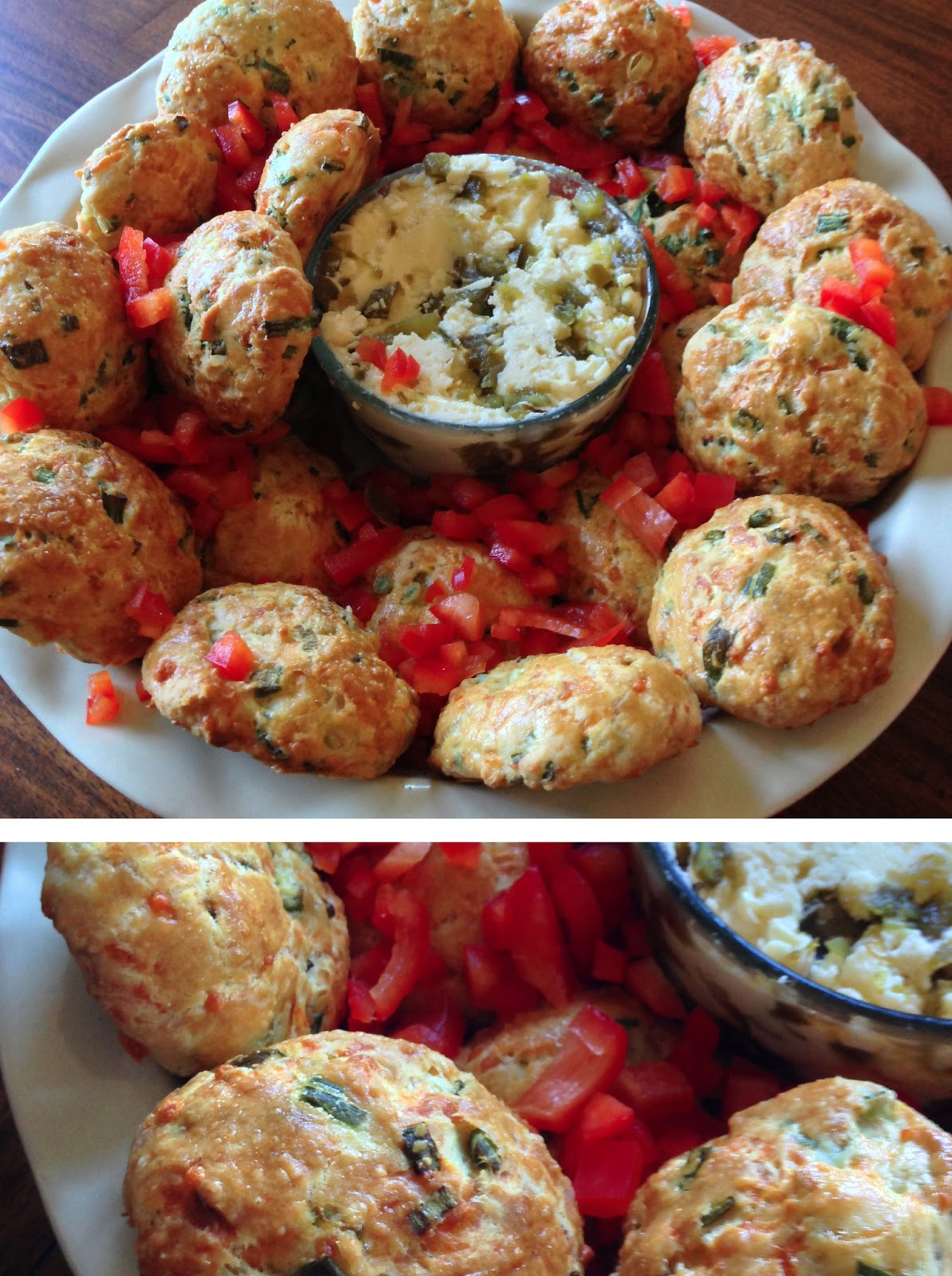 Cheddar Scallion Scones with Jalapeno Agave Butter | Gharnu Gourmet