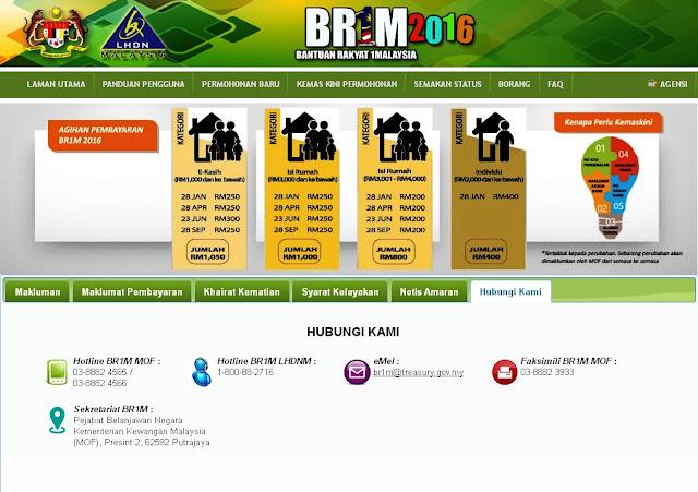 Bantuan Rakyat 1 Malaysia (BR1M 2016)