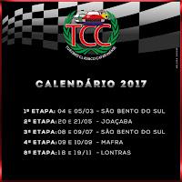 Calendário 2017 - TCC (Turismo Clássico Catarinense)