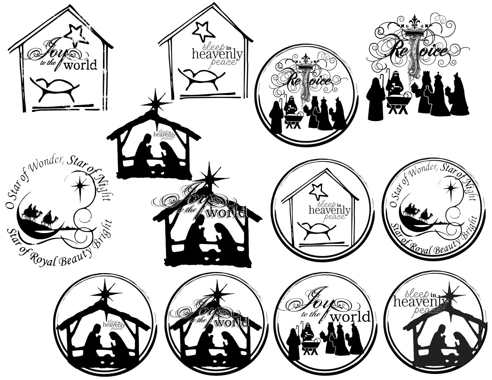 Nativity Silhouette Coloring Page Search Results