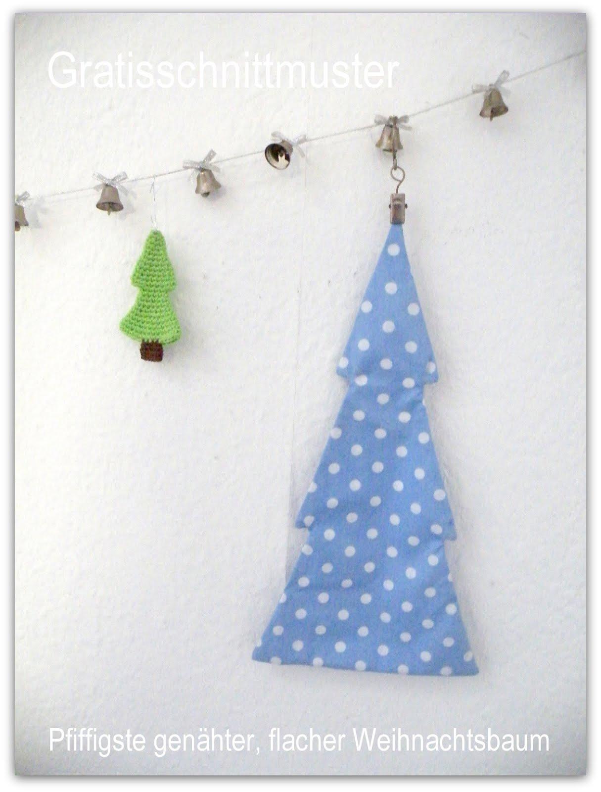 Pfiffigstes genähter, flacher Weihnachtsbaum