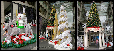 Christmas decor at Pavilion KL Shopping Mall (outside area)