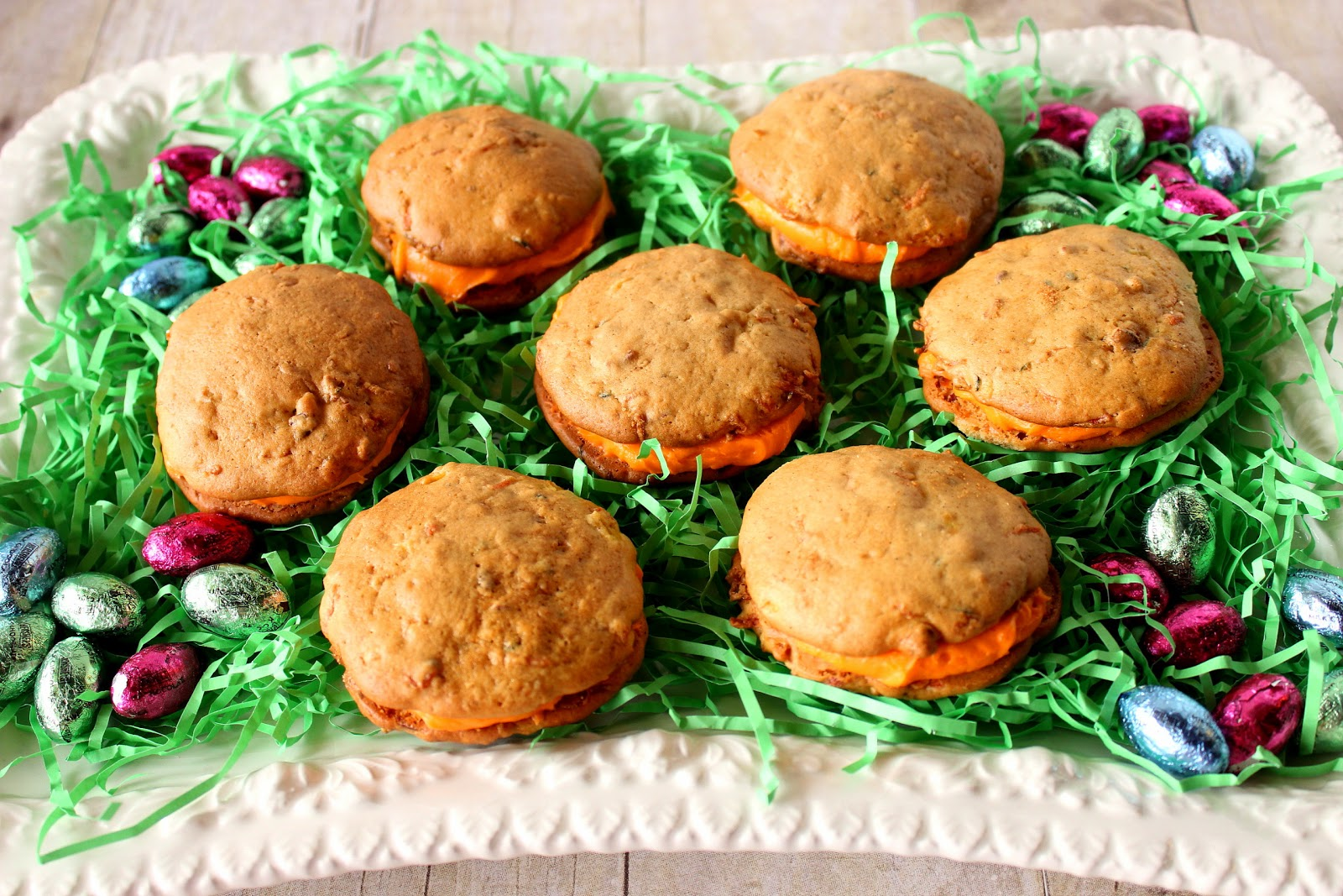 Zucchini and Carrot Cake Whoopie Pie Recipe