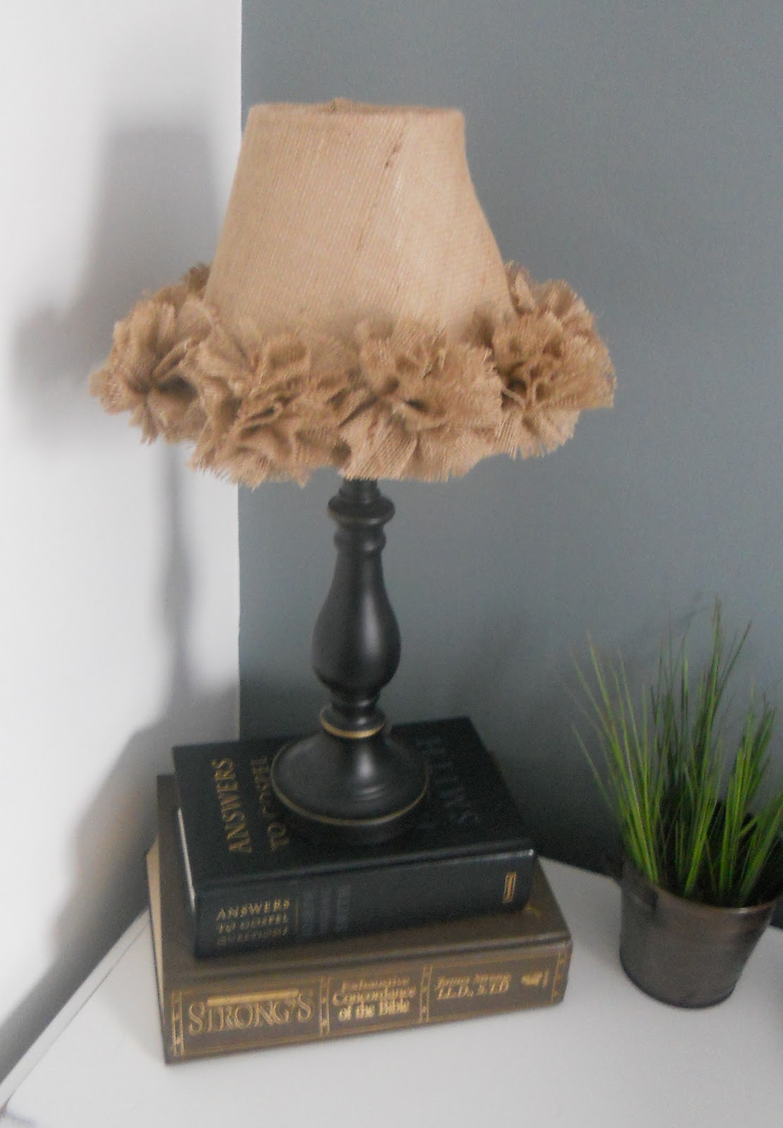 Createinspire burlap lamp shade burlap lamp shade mozeypictures Gallery