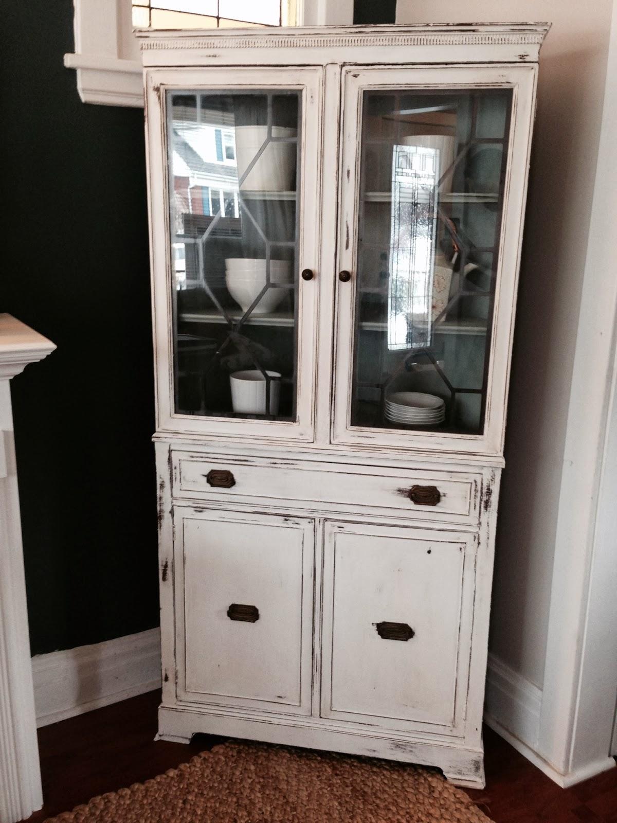 Repurposed Gems: White Corner Hutch