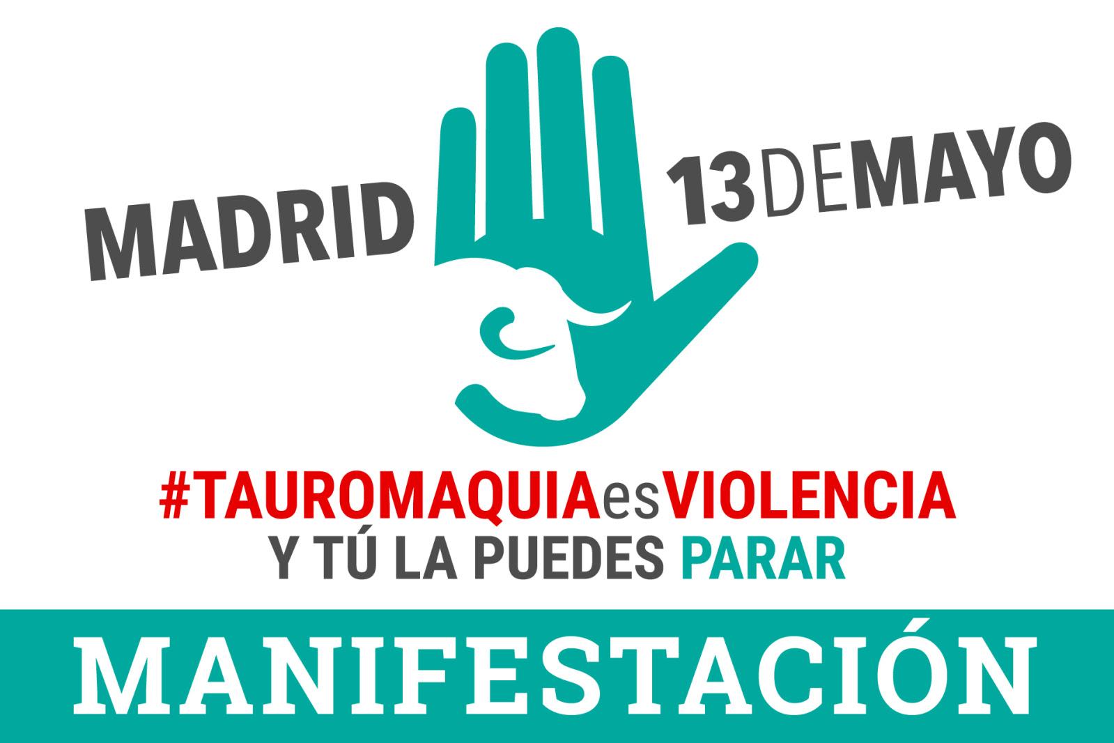 MANIFESTACIÓN 'Tauromaquia es Violencia'