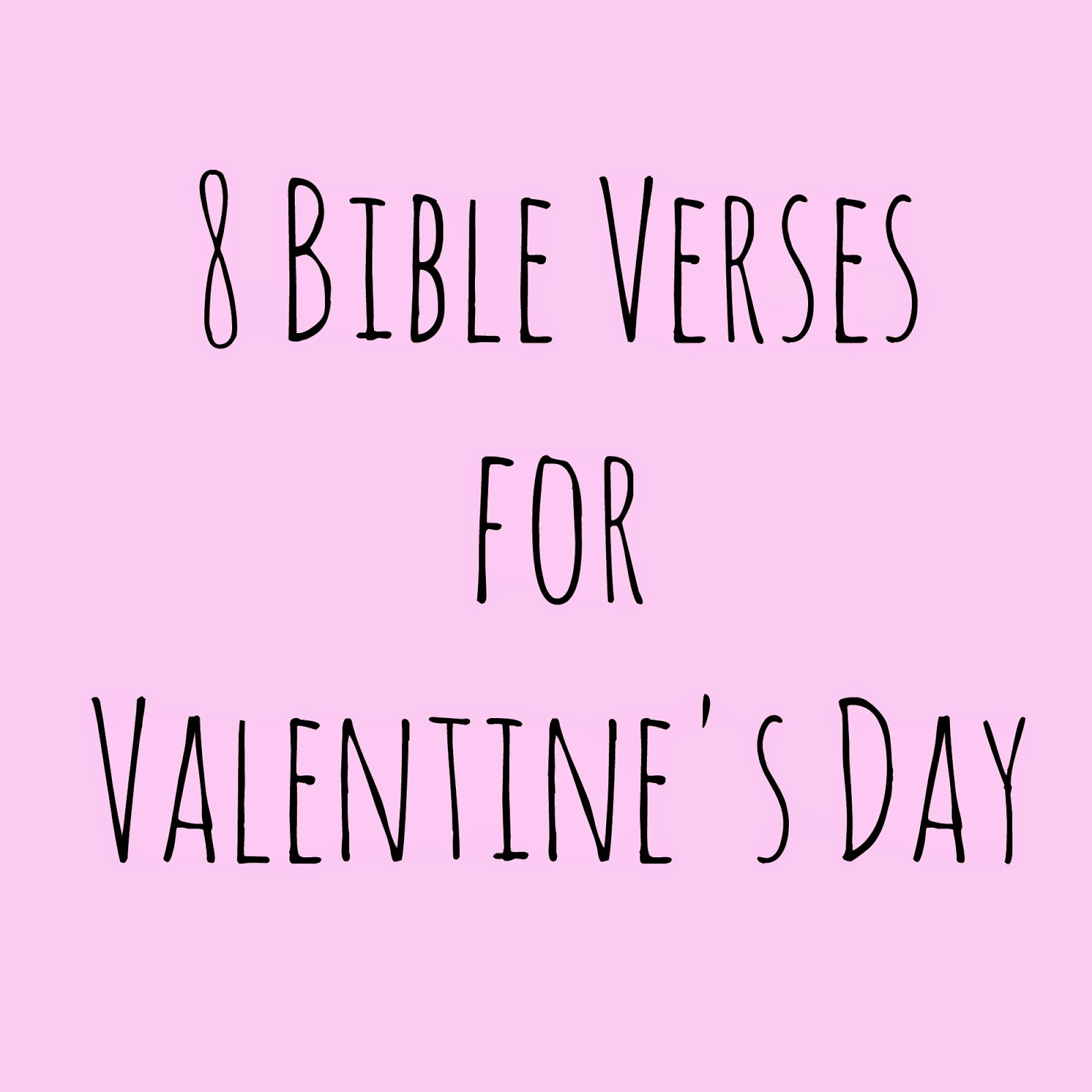 Bible Verses For Valentines Day