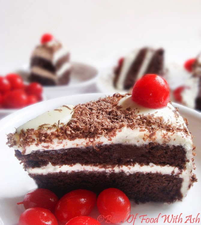 how to make simple black forest cake