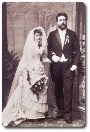 Dawni mieszkańcy Dworu: Antoni Feill i Malwina Jurzykowska w dniu ślubu