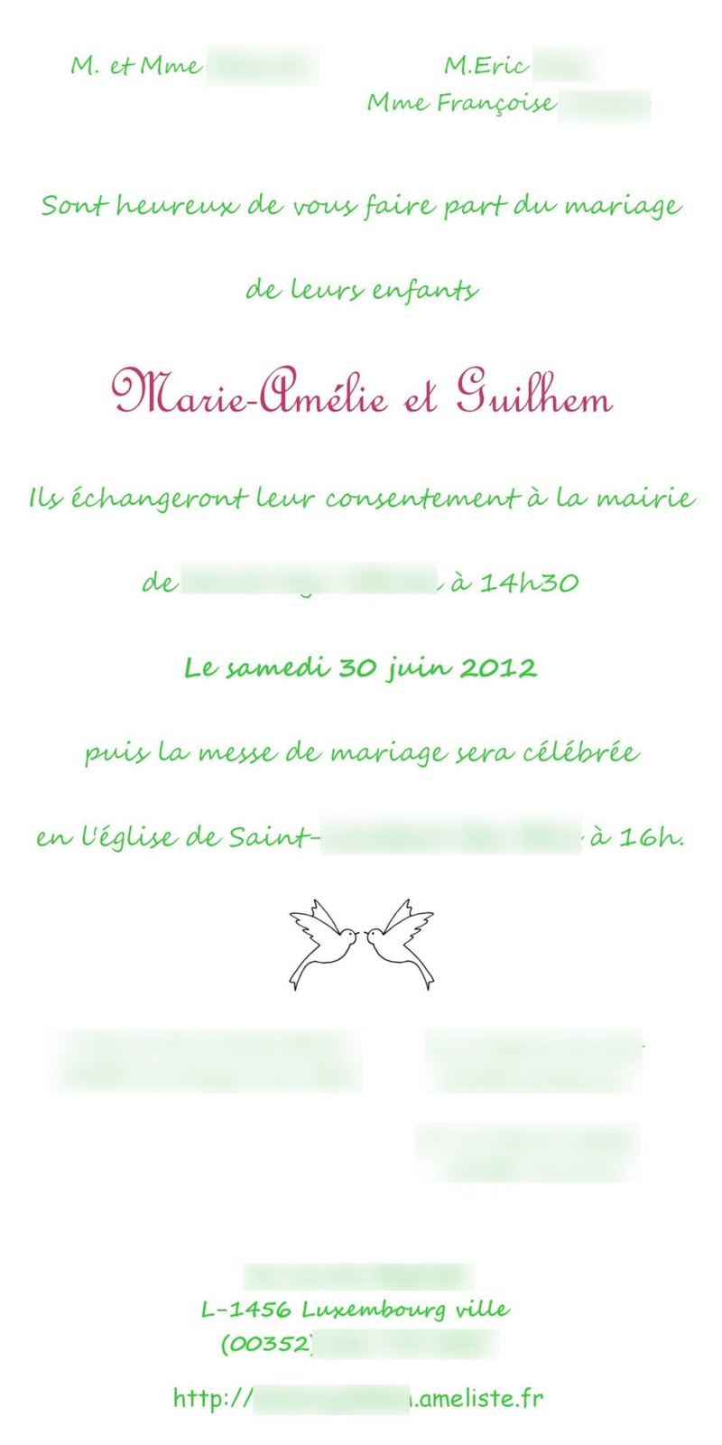 Angeline melin mariage création faire part mariage