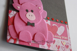 Piggy my love handmade love card