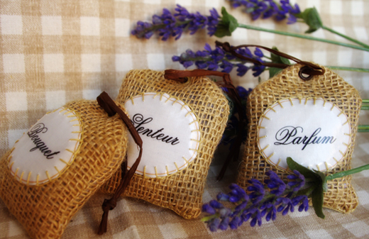 dried french lavender sachets  by Chez Violette