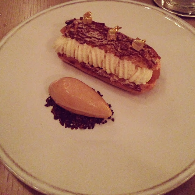 berners tavern apple eclair dessert