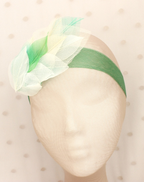 Colección Hojas - Banda Crin estrecha Verde