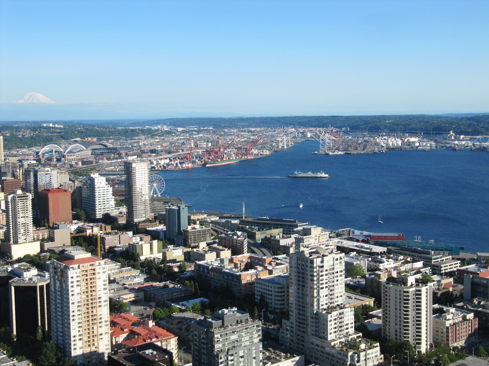 bahia de Seattle desde Space Needle