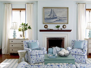 Baby blues in grown up spaces! - The Enchanted Home