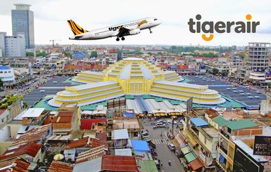 Vé máy bay Tiger Airways đi Phôm Pênh