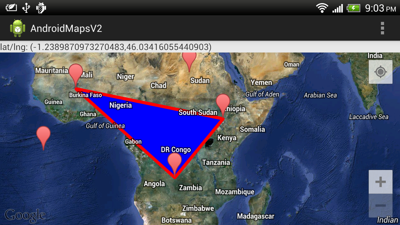 Google Maps Android Api V2 Example Draw Polygon On Googlemap Top