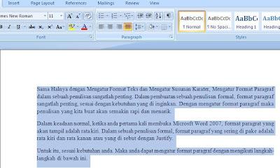 Cara Mengatur Format Paragraf di Microsoft Word 2007 1