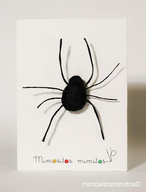 broche de fieltro araña hecho a mano para regalar