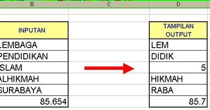 Soal Praktik Excel Fungsi String Belajar Blog Belajar Komputer Excel Word