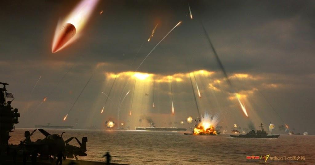 الصواريخ البالستية المضادة للسفن ... بداية العد التنازلي لحاملات الطائرات ؟ CGI+of+Chinese+DF-21C+Anti-ship+Ballistic+Missile+(ASBM)+in+Action+DF-21D+(CSS-5+Mod-4)+Anti-ship+ballistic+missilemaneuverable+re-entry+vehicle+(MaRVs)+american+united+states+usn+navy+aicraft+carrier+nuclear+attacked+destroy