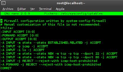 Imagen de Iptables en CentOS 6.2