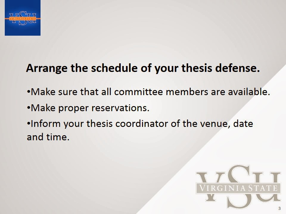 thesis defense presentation speech