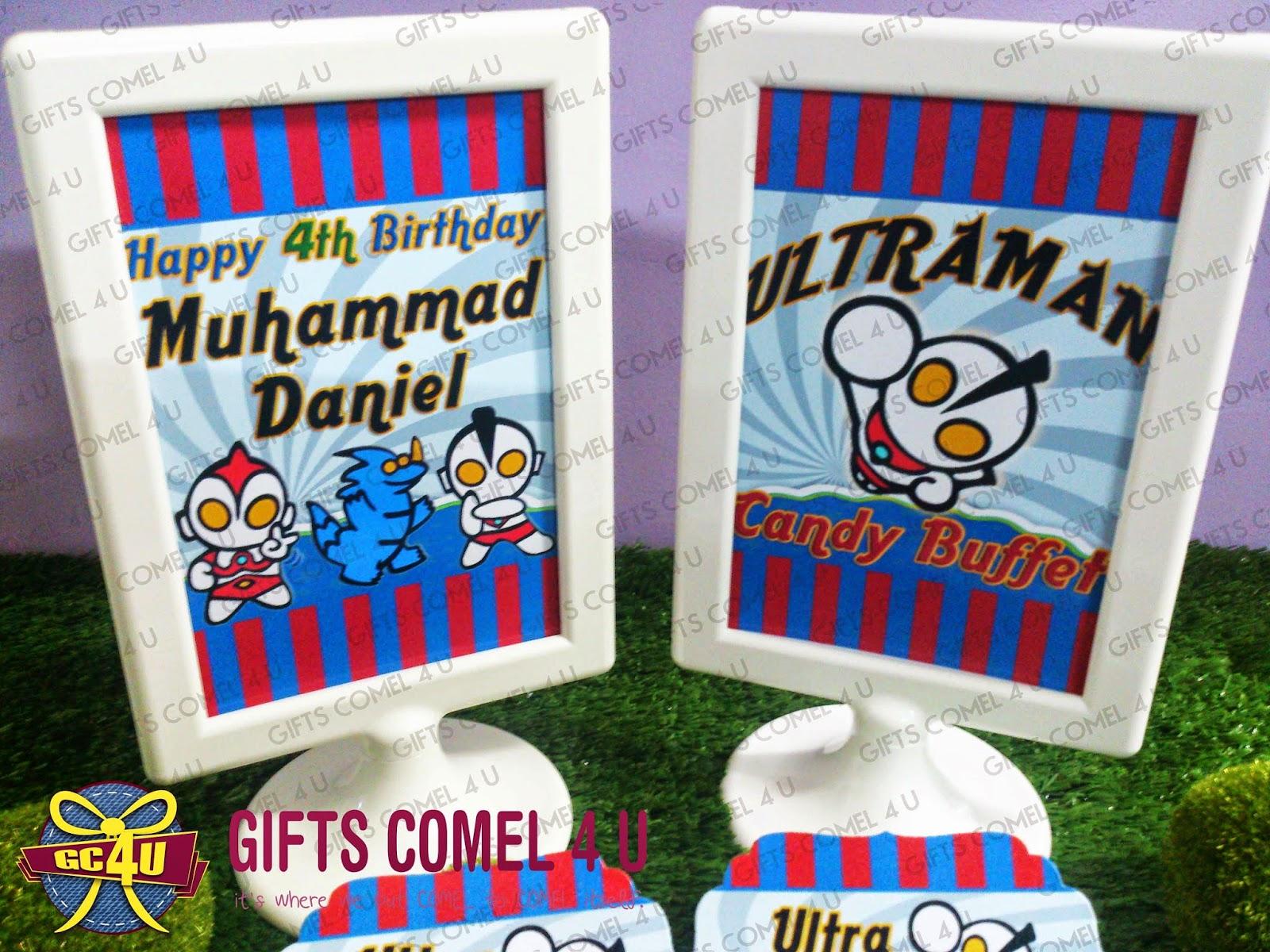 Gifts Comel 4 U Ordered by Nur Vicky Kawaii Ultraman bluered