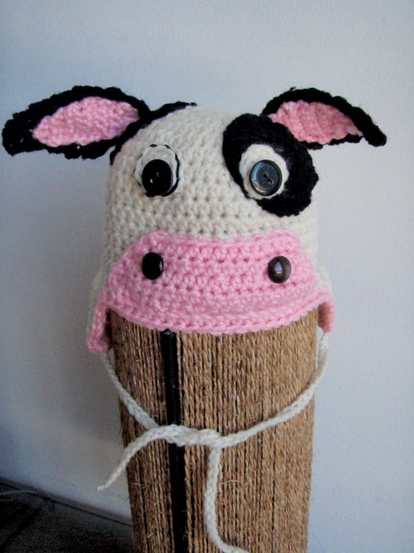 Free Crochet Pattern For Cow Hat : Grandma Swills Handcrafted Knits: Crochet Cow Baby Hat