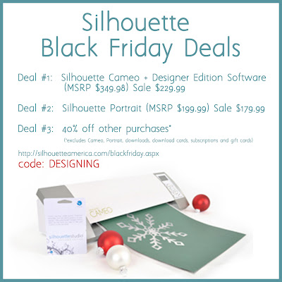 Silhouette Deals!  use code DESIGNING