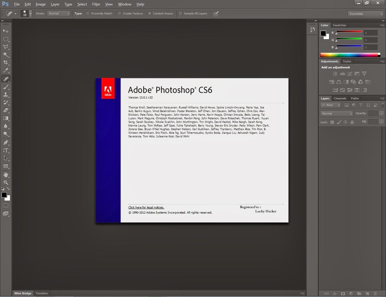 Registered Softwares Adobe Photoshop Cs6 Full
