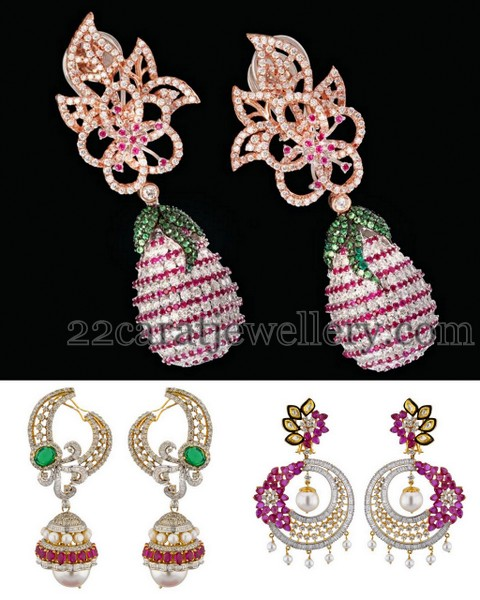 Fruit Drops Diamond Earrings