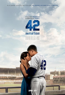 Nicole Beharie and Chawick Boseman 42 Poster