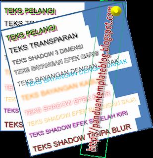 Panduan Cara Membuat Teks Shadow Blog dg CSS3
