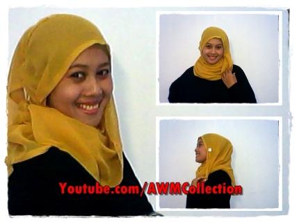 Cara Memakai Jilbab Segi Empat Modern #37 by AWMCollection