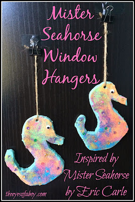 Mister Seahorse craft idea for kids inspired by the book Mister Seahorse by Eric Carle